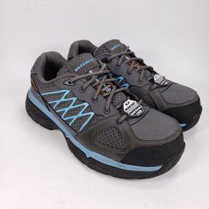 Women's Skechers Work Conroe Kriel Gray Shoes 7